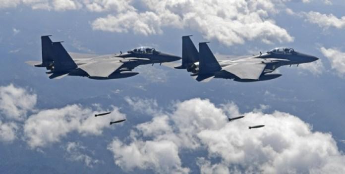 esercitazioni bombardamenti Seul Usa