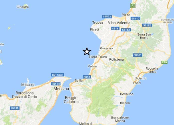 terremoto Tirreno meridionale Calabria