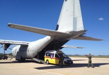 aereo C 130 ambulanza