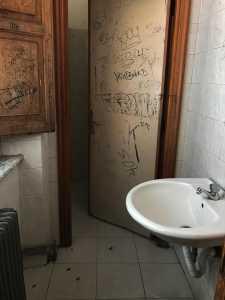 uno dei bagni dell'istituto