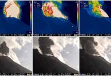 La sequenza esplosiva sullo Stromboli ripresa dalle telecamere dell'Ingv