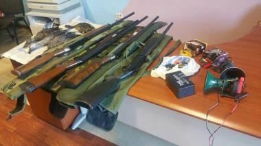 Fucili sequestrati Polizia provinciale Cosenza
