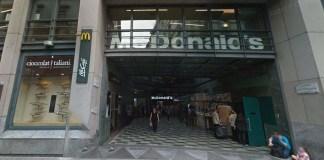 La Galleria Ciro Fontana a Milano dove è avvenuta l'aggressione