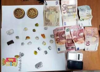 Corigliano, blitz della polizia nel market della droga: tre arresti