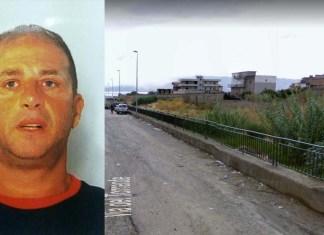 L'uomo ferito nell'agguato a Fortunata Fotugno, Demetrio Lo Giudice. La stradina che costeggia il torrente Gallico
