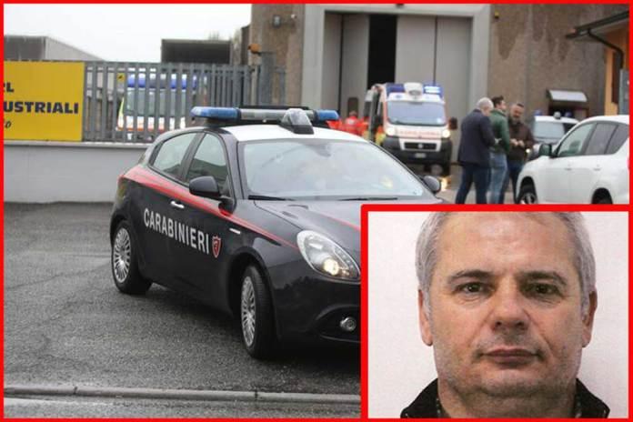 Nel riquadro il killer suicida Cosimo Balsamo