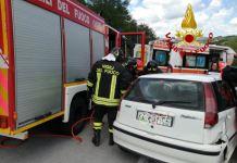 incidente vigili ambulanza