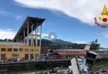 Il ponte crollato a Genova