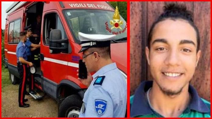 A destra la vittima di 16 anni, Giuseppe Balboni