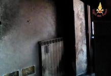 Incendio casa appartamento