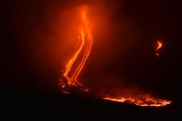 eruzione Etna dicembre 2018