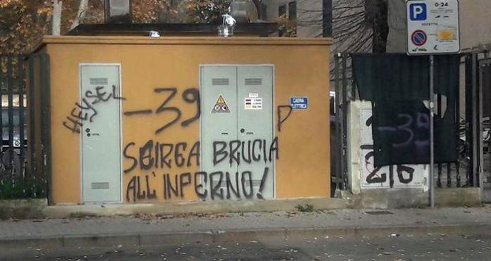 Scritte-choc a Firenze contro Scirea e vittime Heysel