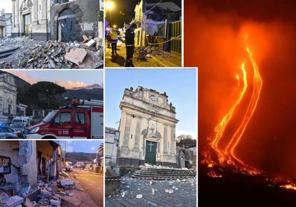 terremoto Zafferata Etna