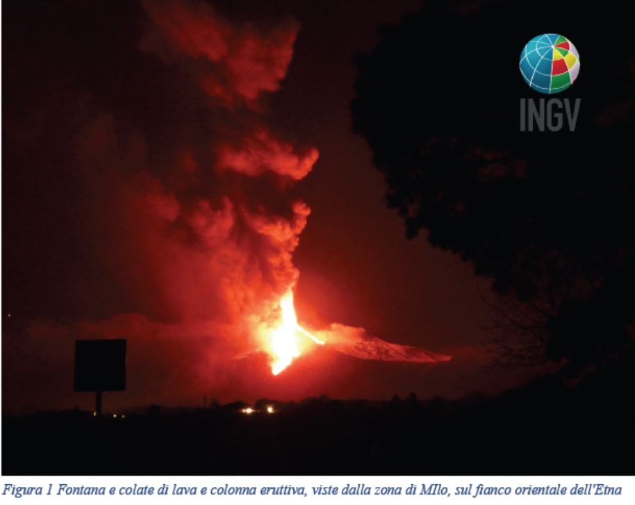 Prosegue l'eruzione dell'Etna, nella notte nuova attività esplosiva