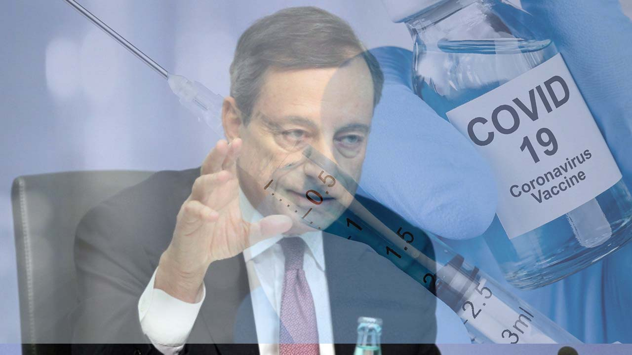 """Draghi smorza la corsa ai vaccini: """"Inutile farlo se il virus muta. E' inefficace"""""""