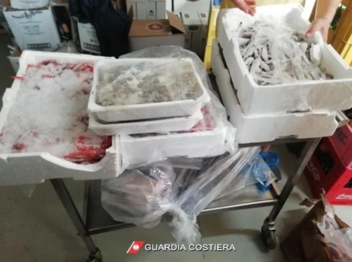 Corigliano, sequestrati 900 chili di prodotto ittico in un lido