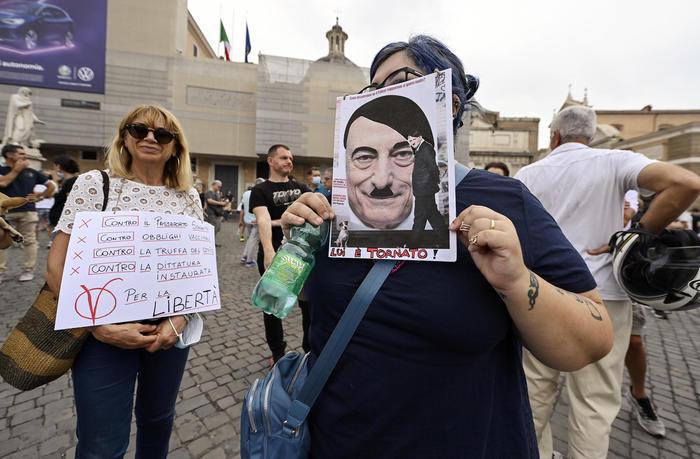 """Proteste in tutta Italia per la Libertà e """"No Green Pass"""""""