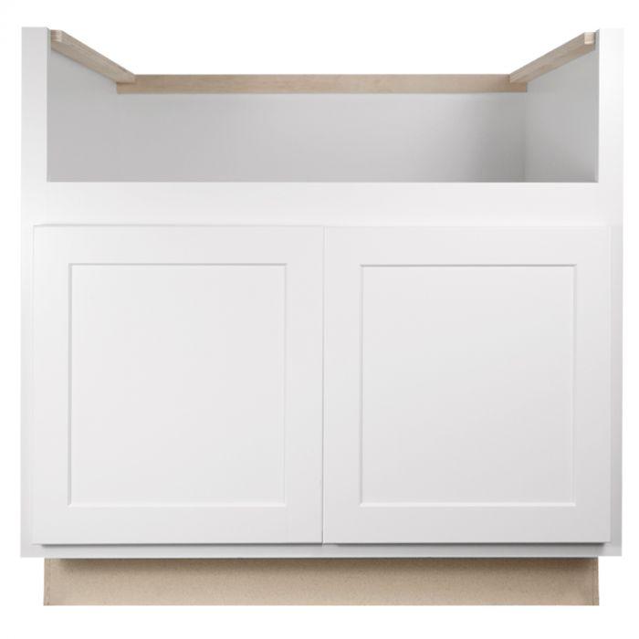 farm sink base 33 georgetown white shaker kitchen cabinet
