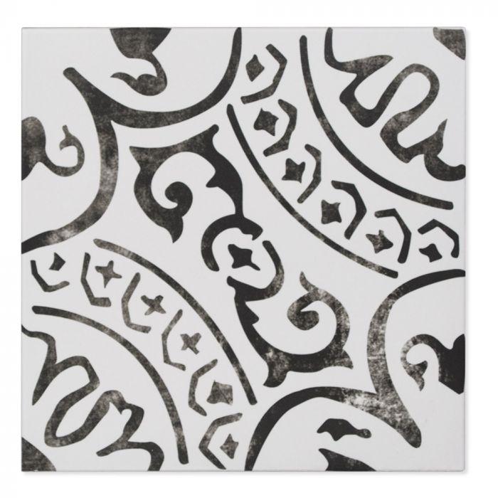 paloma encaustic 8 x 8 hexagonal mosaic tile