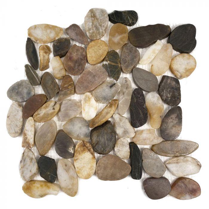 florida tile mixed salad flat pebbles mosaic tile 12 x 12