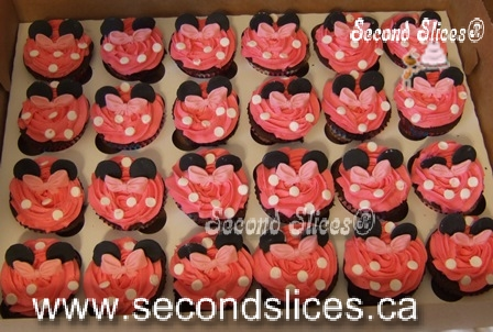 Pleasing Minnie Mouse Pink Cupcakes Birthday Cakes Cupcakes Edmonton Second Birthday Cards Printable Trancafe Filternl