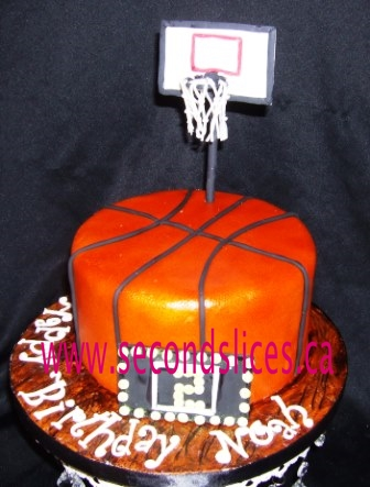 Superb Basketball Birthday Cake Edmonton Second Slices Cakery Funny Birthday Cards Online Aeocydamsfinfo