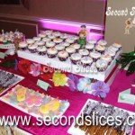 Hawaiian Dessert Table with Cookies, cupcakes and cake pops from bakery Second Slices® in Edmonton AB