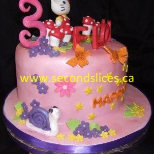 Hello Kitty Birthday Pink Cake Bakery Cupcakes Edmonton Secondslicesca