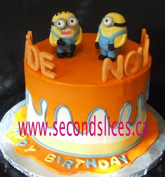 Remarkable Despicable Me Birthday Cake Buttercream Edmonton Second Slices Funny Birthday Cards Online Inifofree Goldxyz