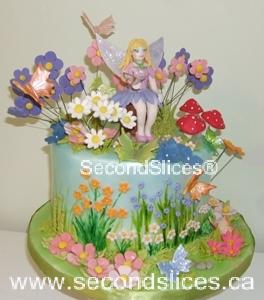 Garden Flowers Butterflies Girls Birthday Cake Edmonton Sherwood