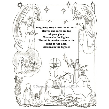 The Mass Illustrated for Children (colouring book
