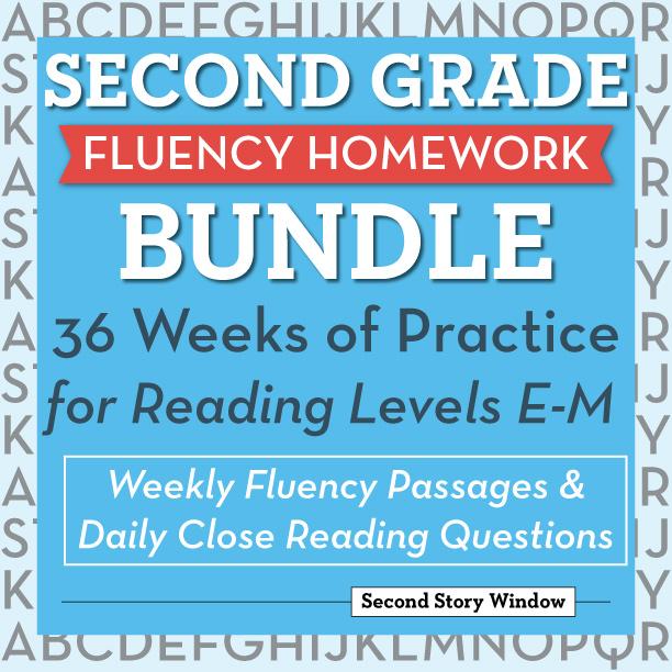 2nd Grade Fluency Homework