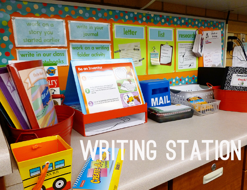 Classroom Writing Ideas ~ Daily work on writing station second story window