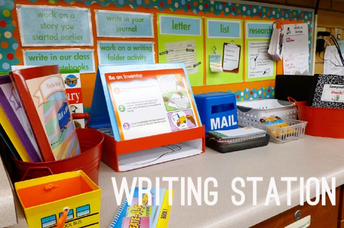 Daily 5 Work On Writing Station Second Story Window