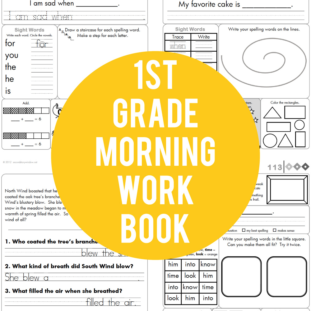 1st Grade Common Core Aligned Morning Work [ 1000 x 1000 Pixel ]