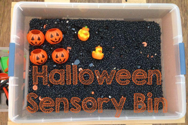 Halloweensensorybin