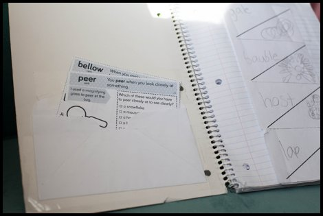 Acquiring Vocabulary with an Interactive Vocabulary Notebook
