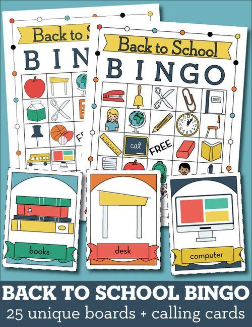 Back to School Printable Bingo