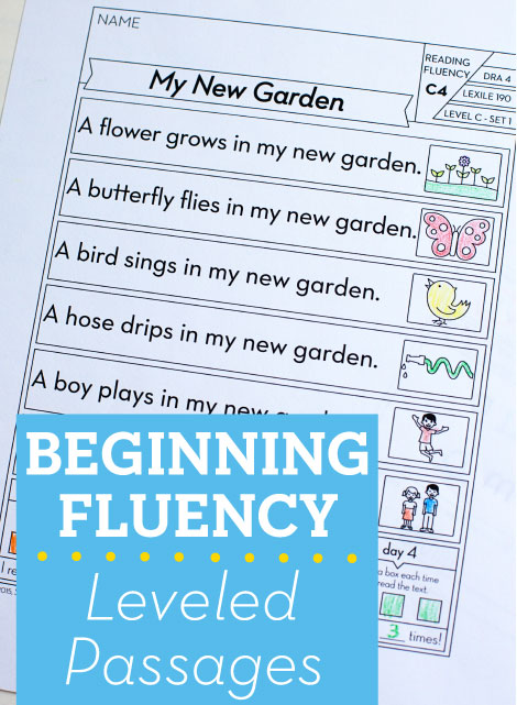 Beginning Fluency: Leveled Passages