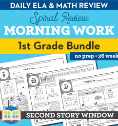 1st Grade Morning Work • Daily Spiral Review Morning Work 1st - Second  Story Window [ 2400 x 2400 Pixel ]