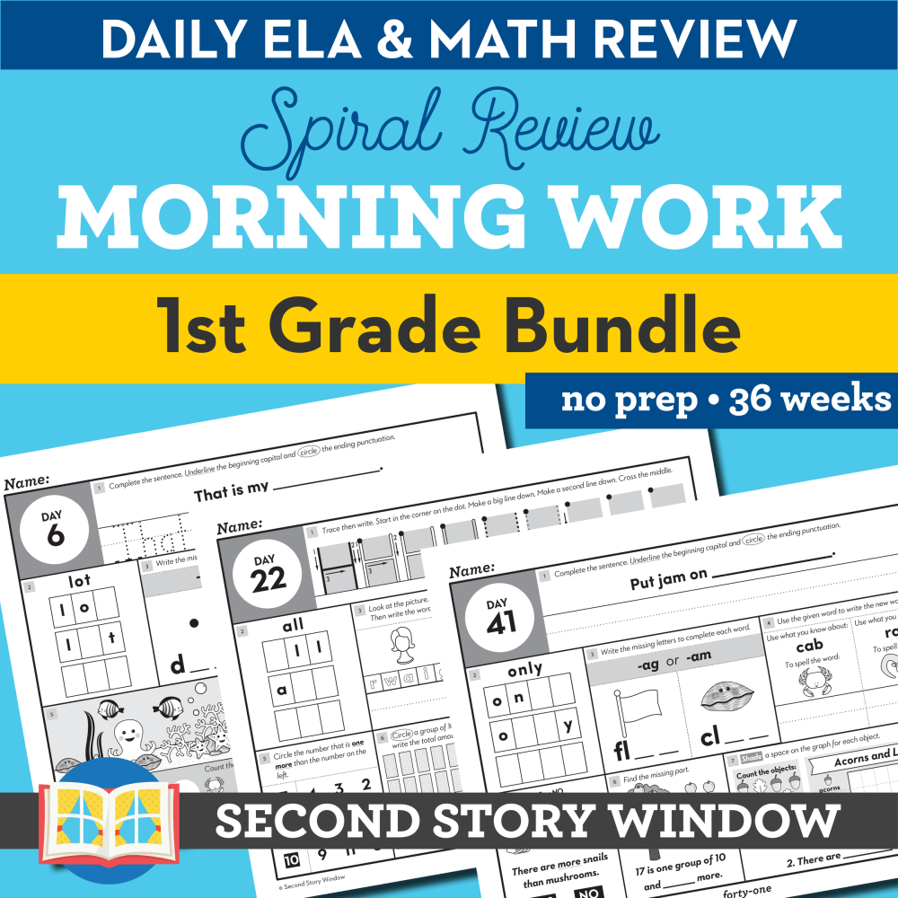 medium resolution of 1st Grade Morning Work • Daily Spiral Review Morning Work 1st - Second  Story Window