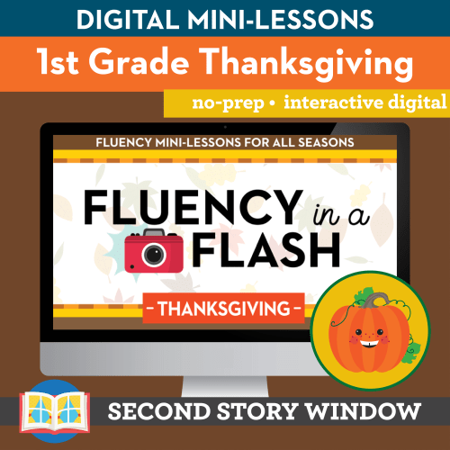small resolution of Thanksgiving Fluency in a Flash 1st Grade • Digital Fluency Mini Lessons -  Second Story Window