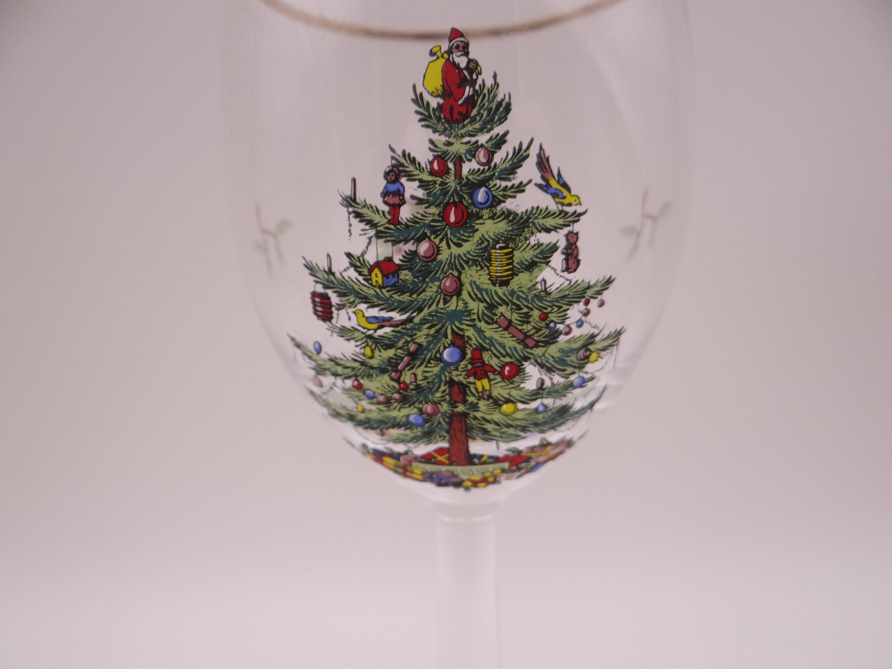 spode christmas tree wine glass 6 available