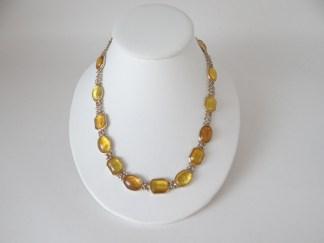 Liz Claiborne yellow bead necklace