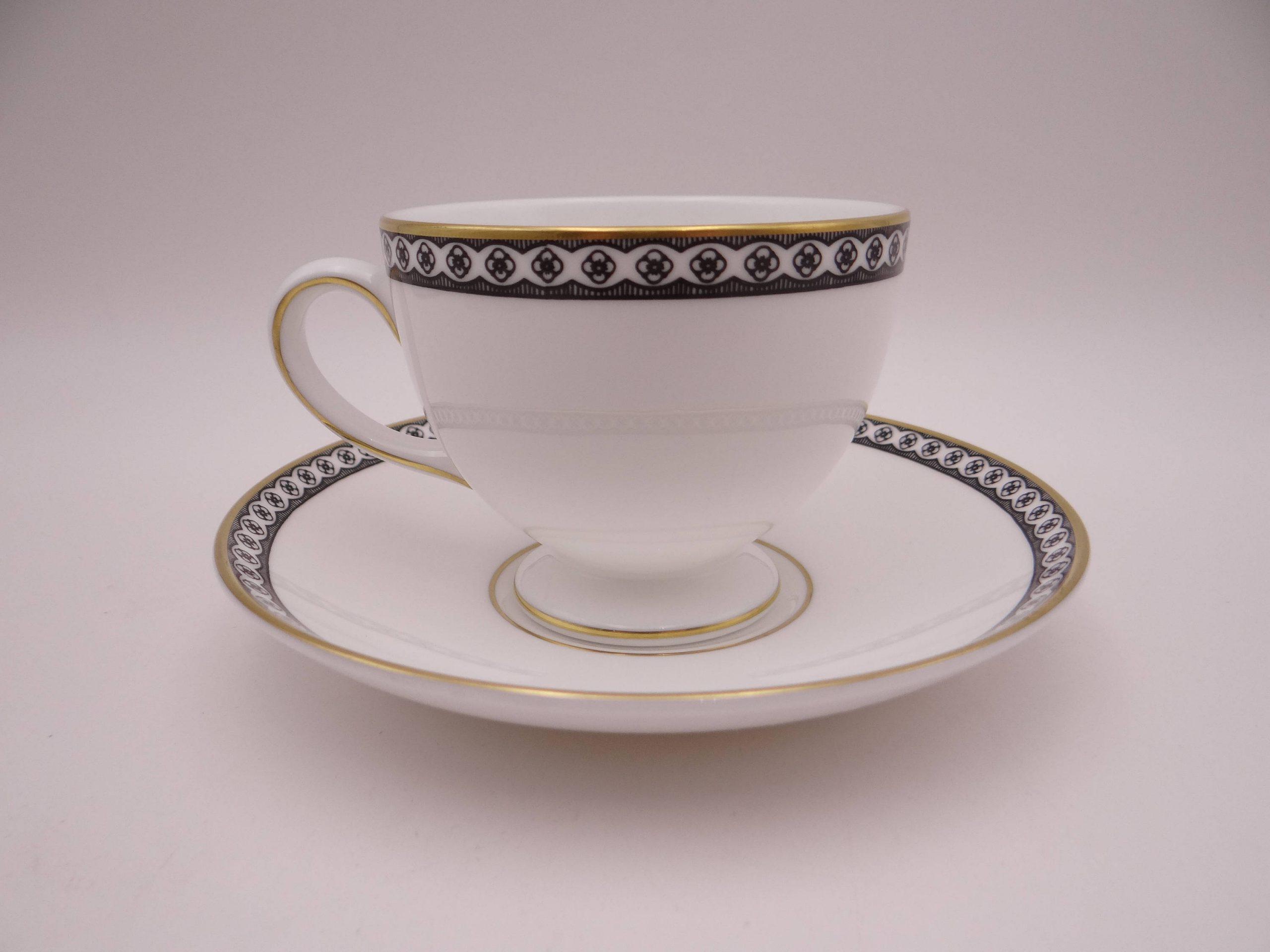 78535G Tea Saucer Wedgwood Ulander Black