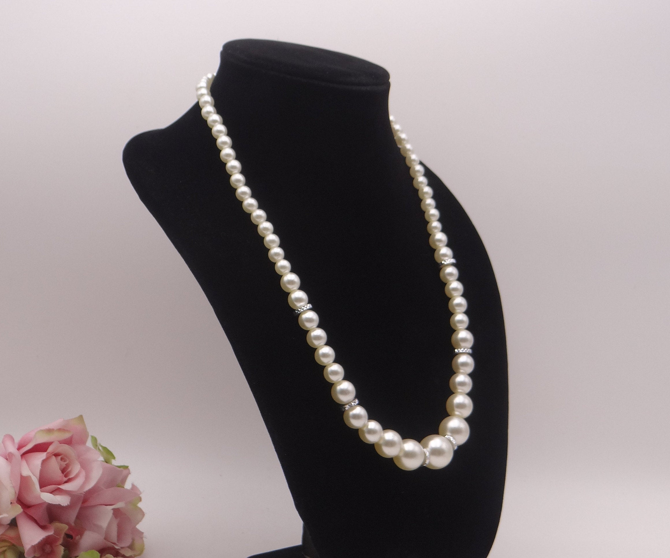 Contemporary Baroque Pearl Necklace with Diamond Gold ... |Modern Jewelry Clasp
