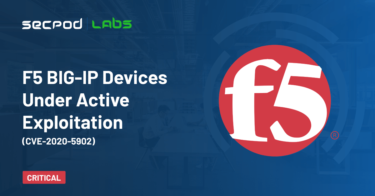 You are currently viewing F5 BIG-IP Devices Under Active Exploitation (CVE-2020-5902)