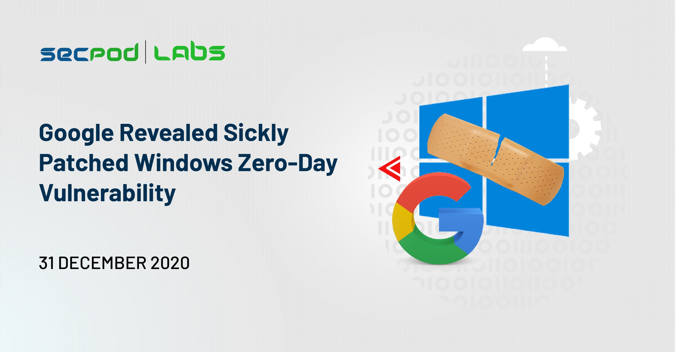 Google Revealed Sickly Patched Windows Zero-Day Vulnerability
