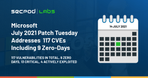 Read more about the article Microsoft July 2021 Patch Tuesday Addresses 117 CVEs Including 9 Zero-Days