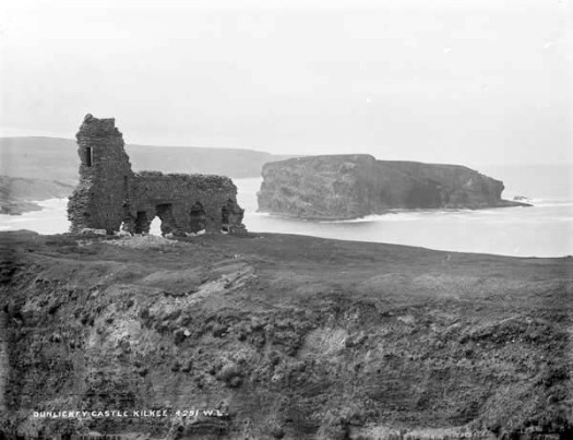 The castle ruin in the 1890s, from the Lawrence Collection, in the National Library